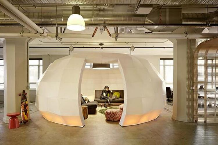 <p>The <a href=&quot;http://runway.is/&quot; target=&quot;_blank&quot;>Runway Incubator</a> has an igloo.</p>
