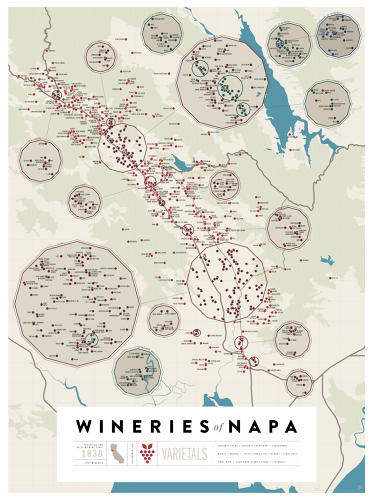 <p>The two maps spotlight over 500 of Sonoma's and over 700 of Napa's vineyards and wineries.</p>