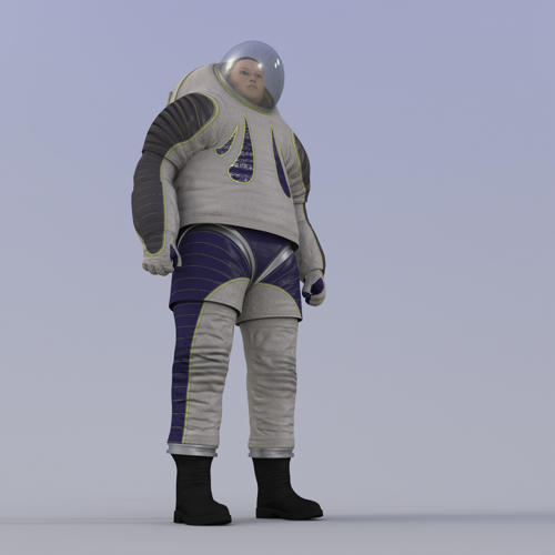 <p>The first version of the suit, released in 2012, looked a little like what Buzz Lightyear wears.</p>