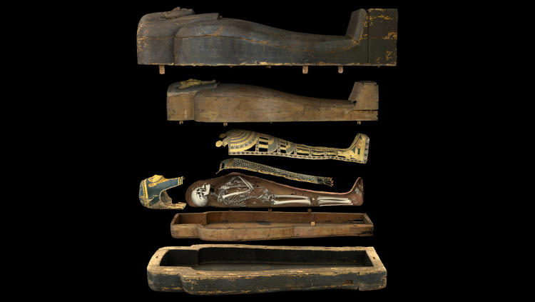 <p>You can dig through a sarcophagus that's been 3-D-photographed and CT-scanned, one layer at a time.</p>