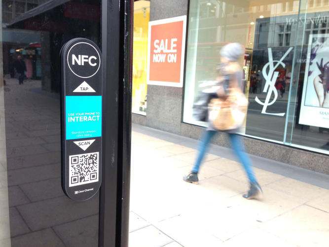 <p>The new billboards in San Francisco and Washington will feature embedded NFC chips.</p>