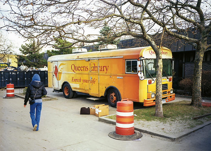<p>The mobile Queens Rockaway Library zipped around communities devastated by Hurricane Sandy to deliver a book selection and free outlets.</p>