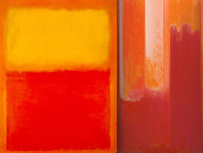 <p>A Rothko before and after Atteberry's glitchy treatment.</p>