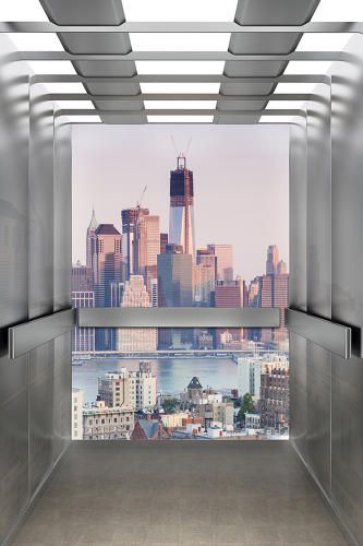 <p>Lifteye projects into the elevator what you would see if the walls were made of glass.</p>