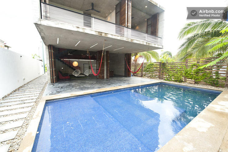 <p>According to its listing, this <a href=&quot;https://www.airbnb.com/rooms/498808&quot; target=&quot;_blank&quot;>Oaxaca house</a> says it contains &quot;a tower volume which, in search of the sea, interrupts its opacity at strategic points until it achieves complete openness at the level where nothing blocks its views over the Mexican Pacific Ocean.&quot; I don't know what that means, but this is an awfully pretty palace!</p>
