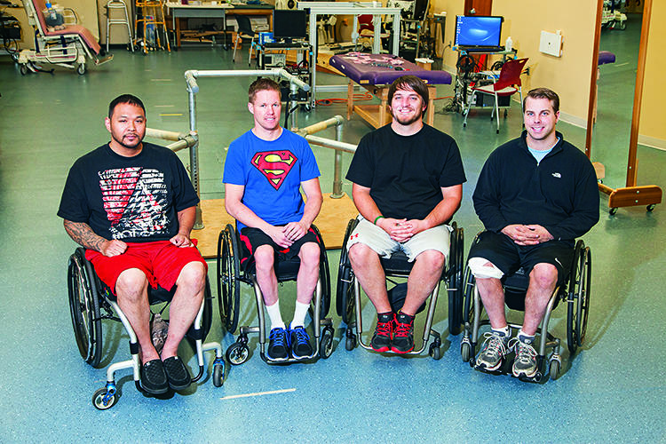 <p>These four men have received an epidural stimulator implanted over the spinal cord that lets them move limbs they were told would never move again.</p>