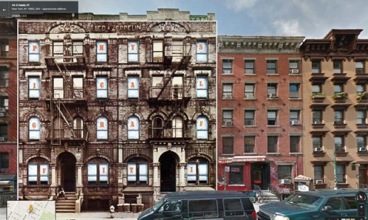 <p>Though New York City's St. Marks Place has evolved from a gutter-punk den of iniquity to a tourist trap, the sepia-tinted apartment building featured on Led Zeppelin's 1975 album <em>Physical Graffiti</em> blends seamlessly into the East Village block's current street-viewed façades.</p>