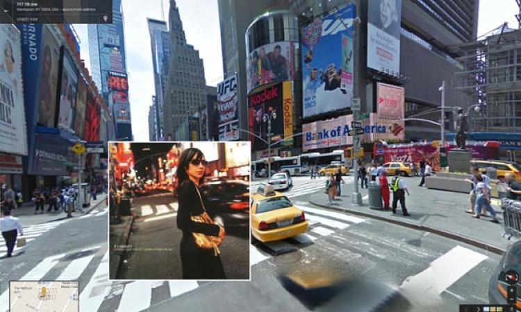 <p>Rock goddess PJ Harvey walks down 7th Avenue in New York City's Times Square on the cover of <em>Stories from the City, Stories from the Sea,</em> shot in 2000.</p>