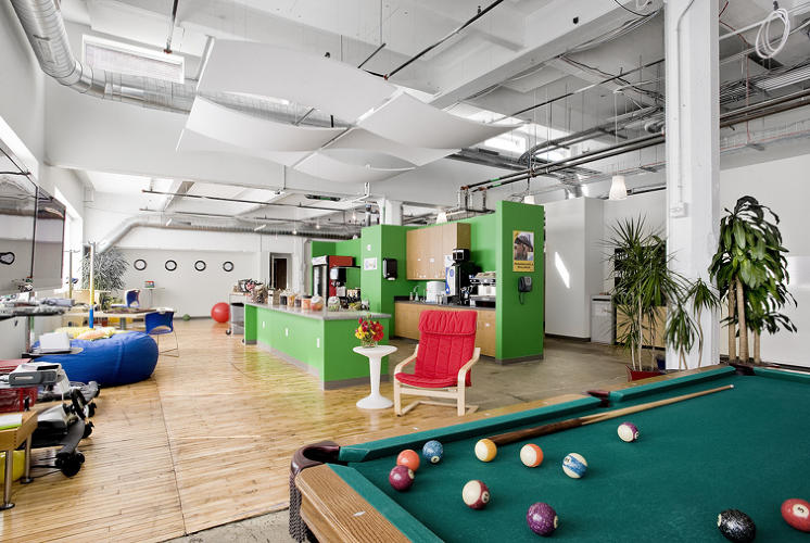 <p>The Pittsburgh office fills the penthouse of a 100-year-old Nabisco factory with pool tables and other crucial aids to techie focus.</p>