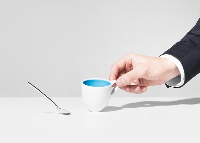 <p>In <em>Bonnie &amp; Clyde</em>, the spoon is connected to the cup and follows the cup when it is pulled across a table. Design by Romain Cazier, Anna Heck, Leon Laskowski</p>