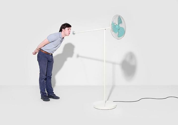 <p>The <em>Windblower</em> fan moves with the power of your breath. Design by Victor Férier, Ludovica Gianoni, and Daniele Walker.</p>