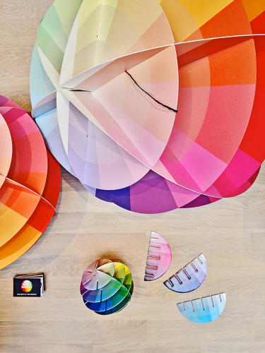 <p>Seen at the Swedish Design Goes Milan pavillion, a 3-D version of traditional paint chips. Kolormondo is a new tool for designers and art students to see color more accurately.</p>