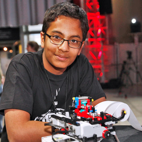 <p>Twelve-year-old Shubham Banerjee's Braille printer inspired the competition, held this week at Seattle's EMP Museum.</p>