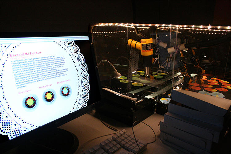 <p>LA museum-goers will soon be treated to Pie Bot, one of the strangest, funniest ways to make a point about workplace gender inequality that we've seen.</p>