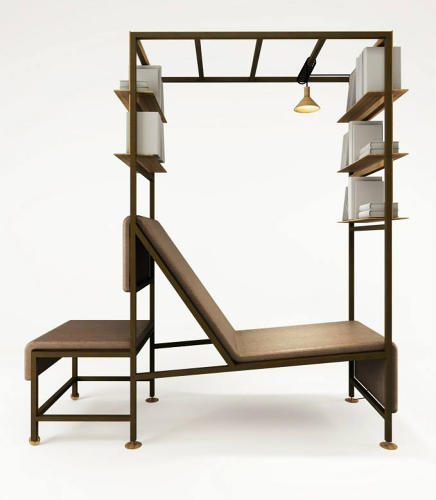 <p>This one might be cheating: Federico Peri's lounger is also a side table and shelving rack, making it great fodder for the most mod dorm room ever.</p>
