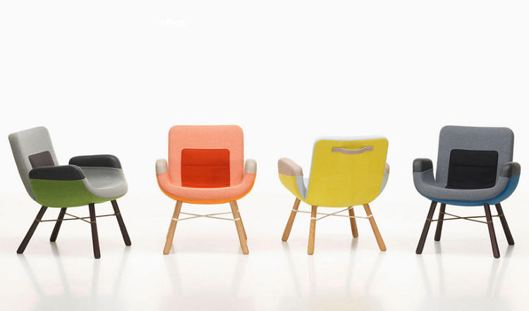 <p>Hella Jongerius created the East River lounge chair specifically for the United Nations North Delegate's Lounge in New York.</p>