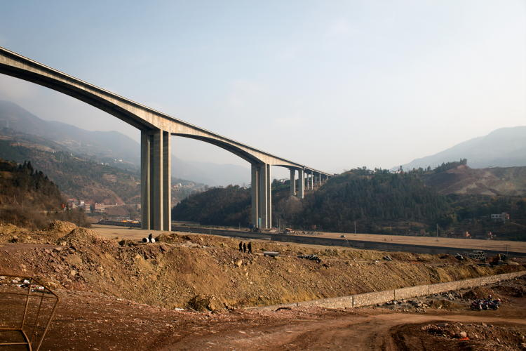 <p>The small village of Cao Tang is being turned into an industrial complex. The riverbeds are dry, and construction is in full swing.</p>