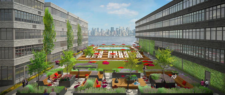 <p>A rendering of the outdoor space at URL Staten Island.</p>