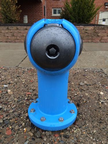 <p>George Sigelakis set out to redesign the fire hydrant. His Sigelock SPARTAN is made of a mixture of stainless steel and ductile iron. Its powder coating makes it resistant to rust and corrosion.</p>