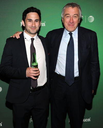 <p>the Winner Dennis Lazar and Robert De Niro at the film premiere on April 23, 2014</p>