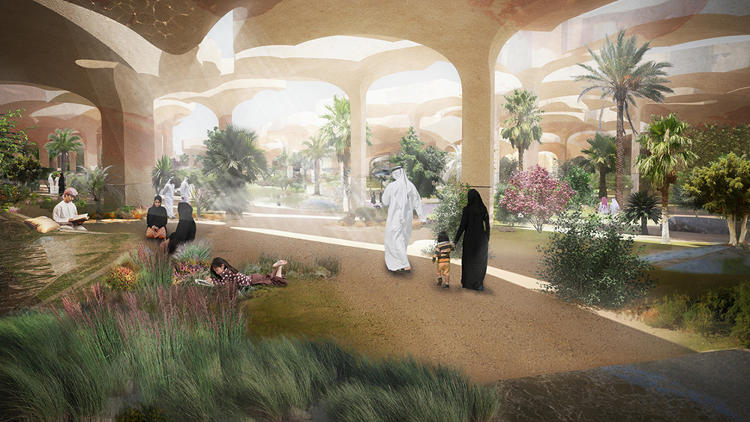 <p>Thomas Heatherwick has redesigned the 30-acre Al Fayah Park in Abu Dhabi to embrace its desert setting.</p>