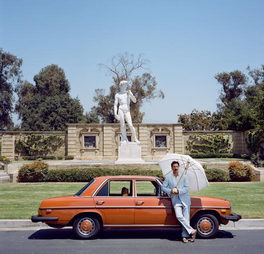 <p>Zack Stratis and his 1966 Mercedes 300D. Glendale, California.</p>
