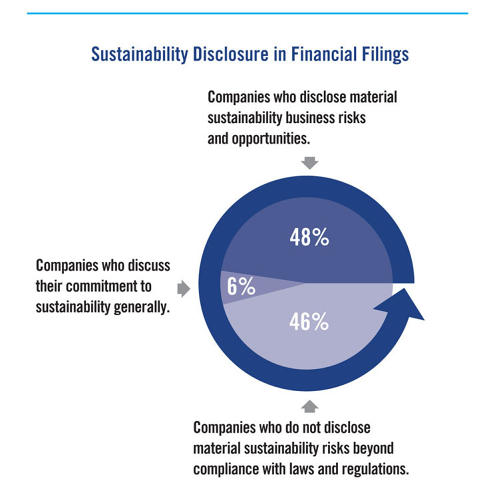 <p>A new report evaluates the sustainability actions of 613 of the largest publicly traded companies in the U.S.</p>