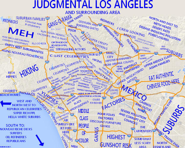 <p>Los Angeles, too, has a wide swath of &quot;meh.&quot;</p>