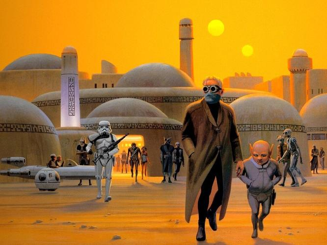 <p><em>Star Wars: The Art of Ralph McQuarrie</em>, a limited edition book by <a href=&quot;http://dreamsandvisionspress.com/starwarstheartofralphmcquarrie.aspx&quot; target=&quot;_blank&quot;>Dreams and Visions Press</a>, features the original designs for the films' sets and its now-legendary characters, including Darth Vader, Chewbacca, R2-D2, and C-3PO.</p>