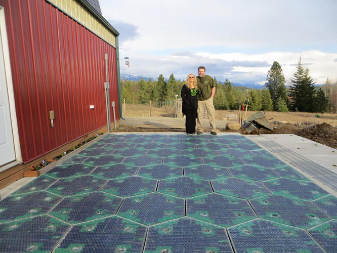 <p>Eventually, if every paved surface was covered in the product, the panels would produce more power than the nation uses.</p>