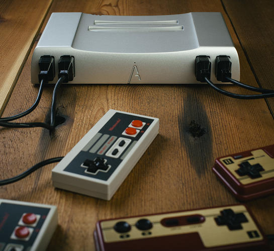 <p>It has a top-loading cartridge slot, which has been shown to virtually eliminate all of the loading problems of the original NES.</p>