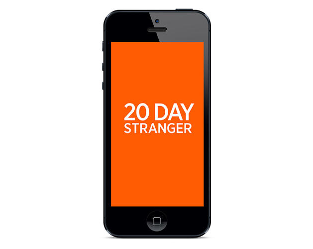<p>20 Day Stranger is an iPhone app by MIT Media Lab's Playful Systems group.</p>