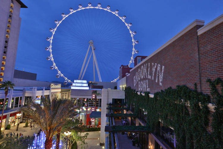 <p>A new outdoor shopping district, located what used to be a hotel service alleyway on the Las Vegas Strip, is specifically designed to appeal to pedestrians.</p>