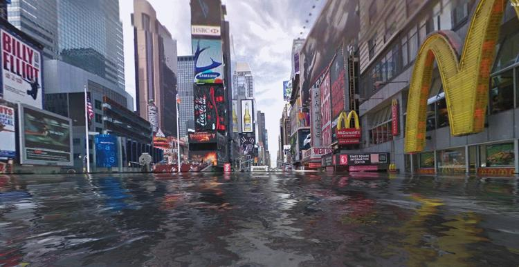<p>This is what Times Square would look like under 6 feet of water.</p>