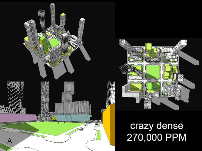 <p>But it turns out it's possible to reach Manhattan-level densities, or more, with lower buildings that match the city's existing character.</p>