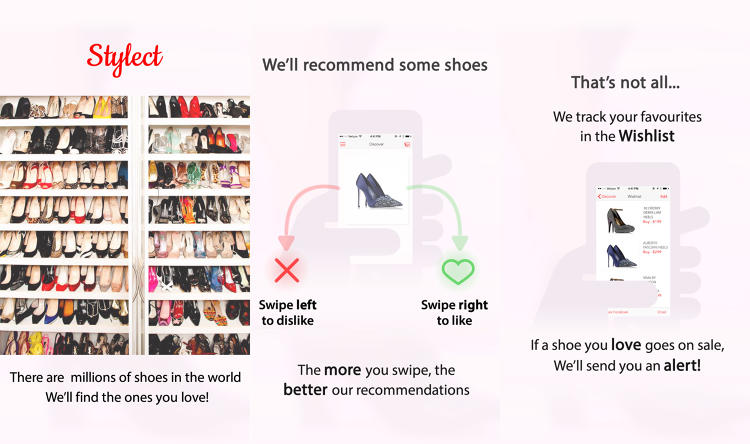 <p>So yes, swipe right if you think a shoe is hot and left if it's not. The app learns your taste and personal style so you can settle on a pair that's right.</p>
