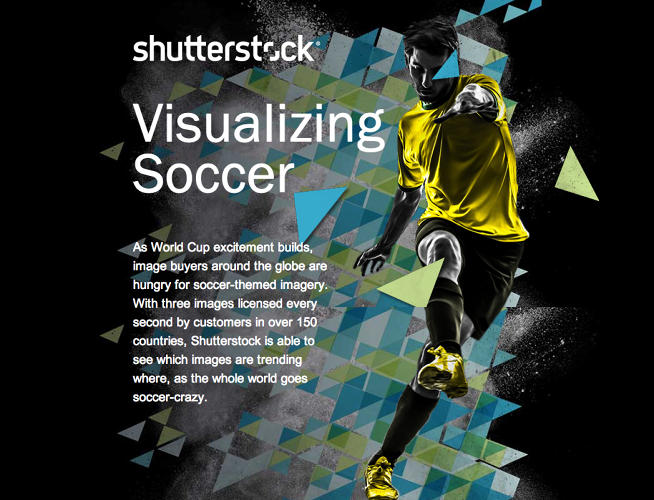 <p>As the FIFA World Cup approaches, Shutterstock has kept <a href=&quot;http://www.shutterstock.com/features/football/us.html&quot; target=&quot;_blank&quot;>tabs on the soccer-themed imagery</a> being used by marketers around the world.</p>