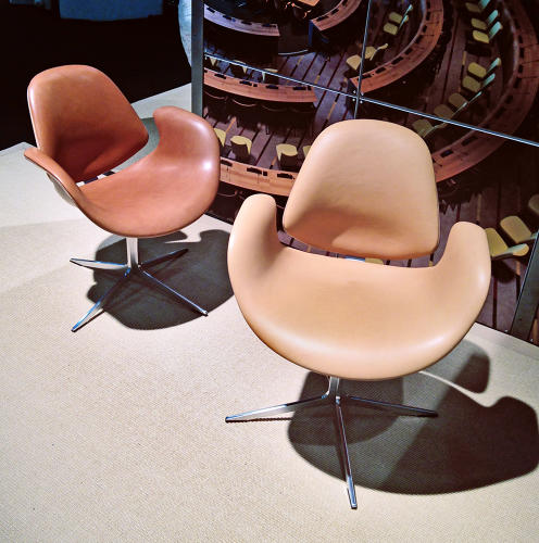 <p>In 1951, midcentury Danish designer Finn Juhl designed the chamber room for the United Nations headquarters in New York. The chairs have been put back into production by designers Kasper Salto and Thomas Sigsgaard.</p>