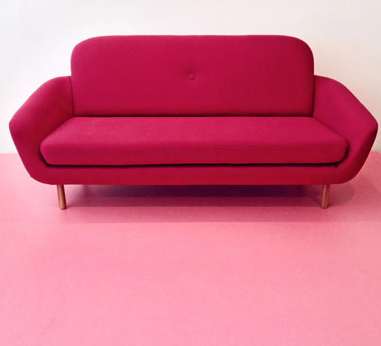 <p>Also at Fab's newly opened showroom, an in-house designed sofa. This one's called Cup.</p>