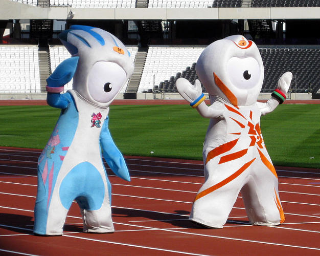<p>The creation myth of these London Olympic mascots is that they are literally made out of building materials.</p>