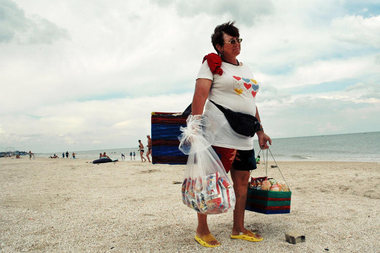 "<p>She recently returned to the Spit to document its sunbathers, fruit vendors, masseuses, fish mongers, and more in a lovely series called ""Toilers by the Sea.""</p>"