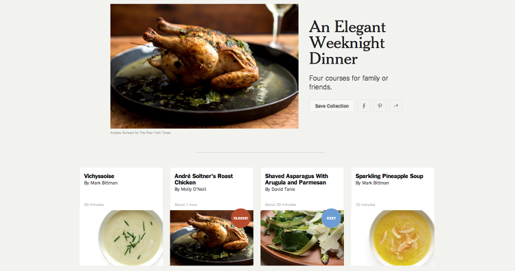 <p>It allows you to search a database of ~16,000 recipes.</p>