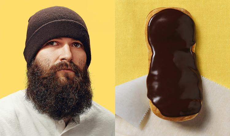 <p>A long brown beard means you're a dead ringer for a chocolate éclair.</p>