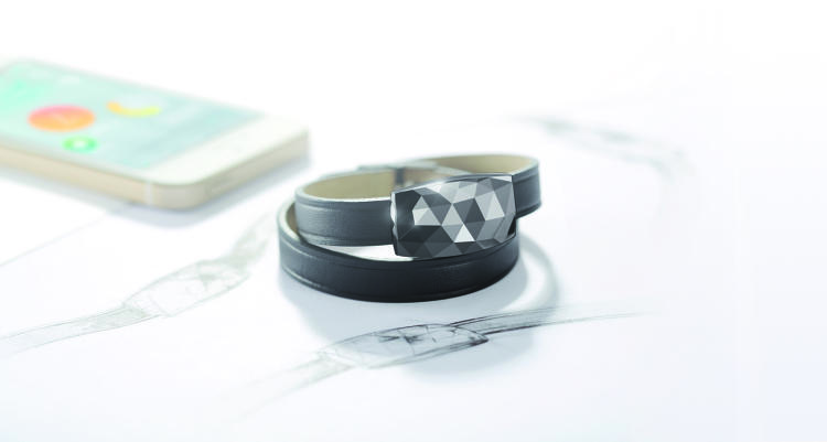 <p>Netatmo's UV tracker, June, takes the form of a gemstone, and can be worn with two thin bracelets--one leather and one silicon--or clipped onto clothing. Pictured: June in gunmetal</p>