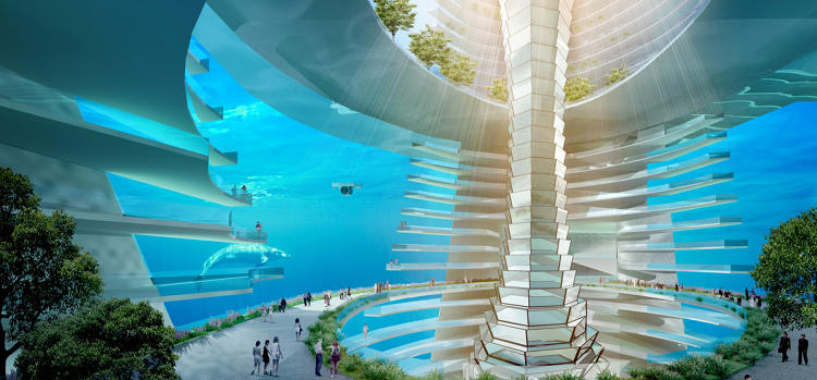 <p>CCCC, which commissioned the design, is currently building a 31-mile long bridge between Hong Kong and Macau using the same type of floating modules that will make up the new city.</p>