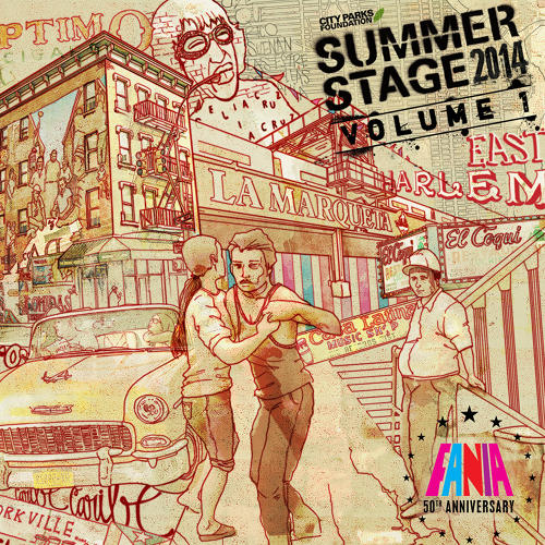 <p>Fania 50th at SummerStage 2014 poster</p>