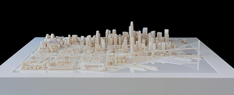 <p>This future version of San Francisco, created for real estate firm Tishman Speyer, includes several unfinished projects, including the Transbay Transit Center.</p>