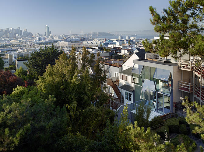 <p>Designers at Fougeron Architecture aimed to better connect this San Francisco house to the hilly landscape.</p>