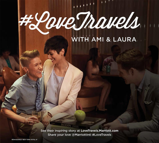 <p>Called #LoveTravels, it features print and display ads, an online portrait gallery, and most dramatically, building wraps around Marriott hotels in Washington, DC.</p>