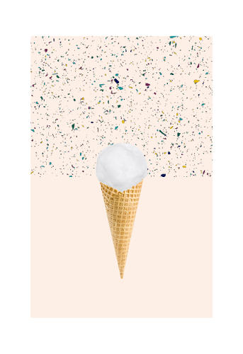 <p>Audience favorites tend toward the posters that wink back at you, like this ice cream cone</p>
